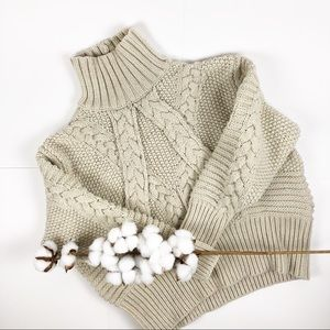 Zara cable knit chunky sweater